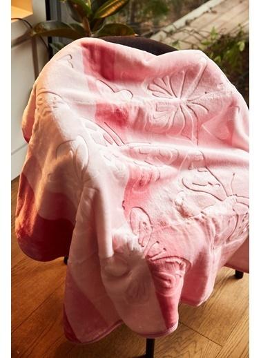 Arma Baby's Pembe Kelebekli Polar Bebek Battaniyesi 90X90 Pembe